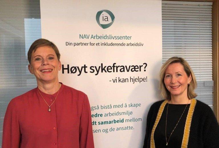 Avdelingsleder Ellen Overvik og seniorrådgiver Elisabeth Stenumgård ved NAV Arbeidslivssenter Oslo har i en årrekke gjennomført skreddersydde opplegg for å utvikle arbeidsmiljø og få ned sykefraværet.